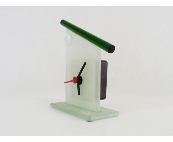 Horloge de table vintage en verre de Murano Ragazzi & Co année 80/90