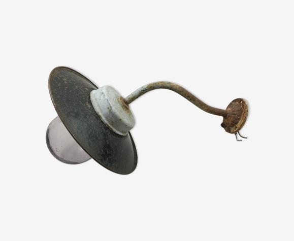 Lampe de cour col de cygne avec globe