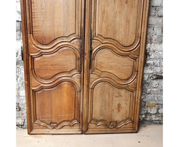 Paire de portes en chene XVIIIéme