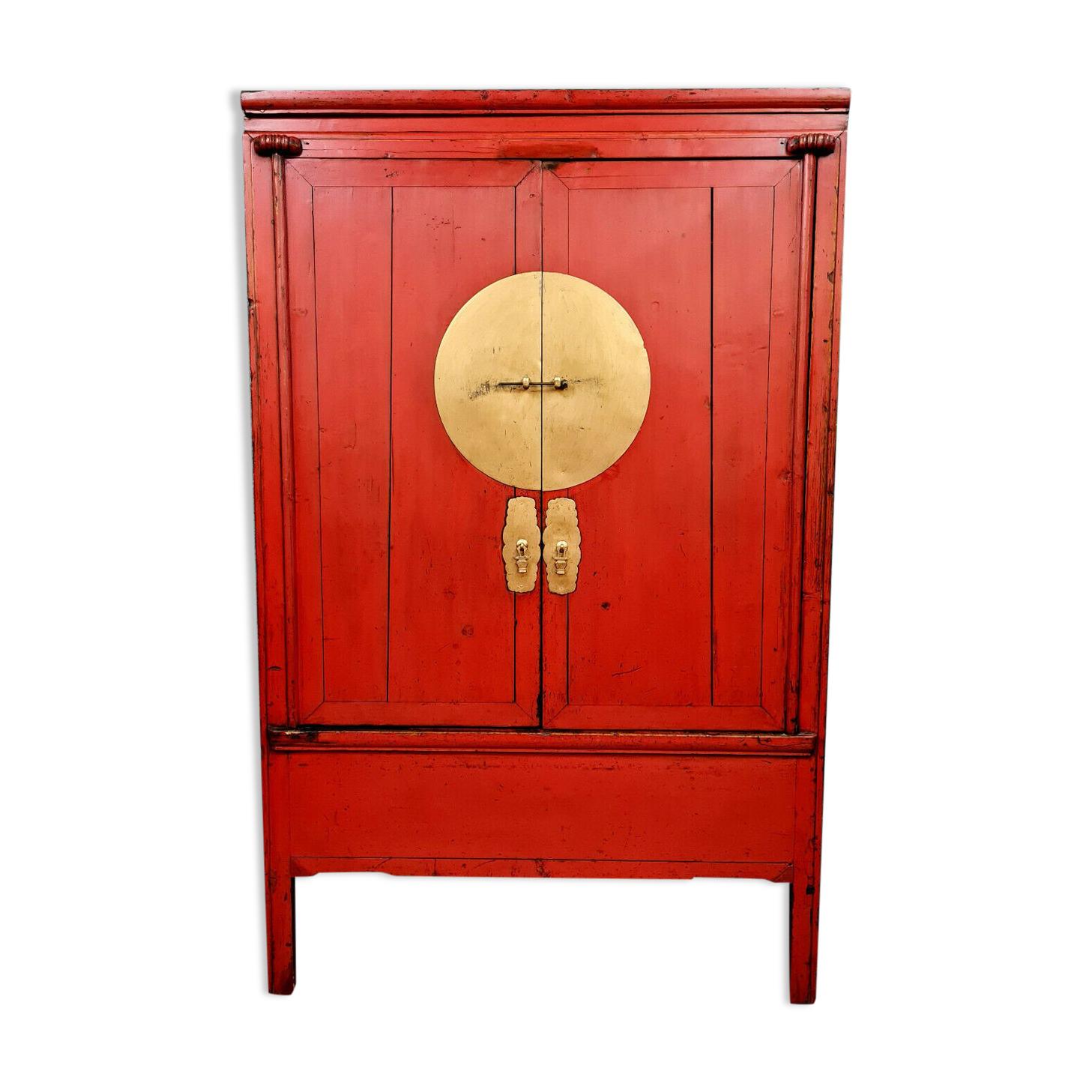 meuble d'appui japonisant en laque rouge vers 1940