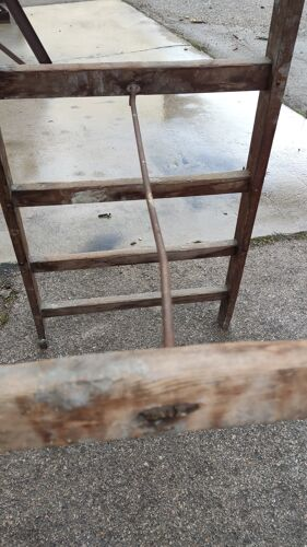 Double escabeau de peintre en bois