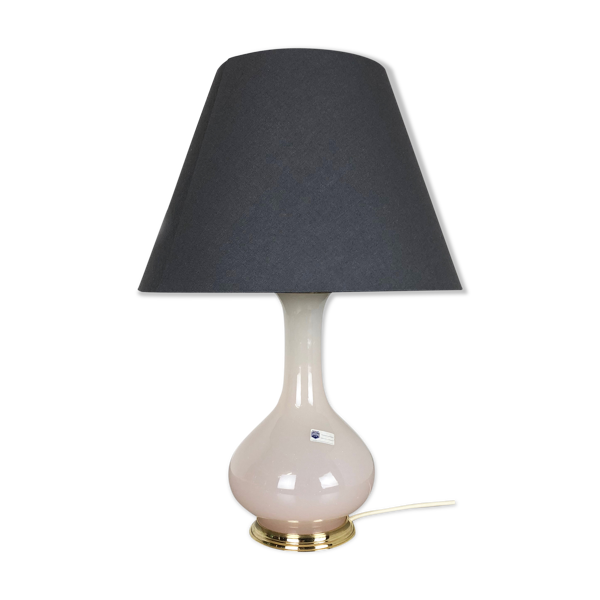 Lampe de bureau en verre de Murano opalin fabriquée par Cenedese Vetri Italie, années 60