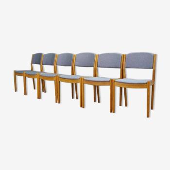 Lot de 6 chaise de par Poul M.  Volther