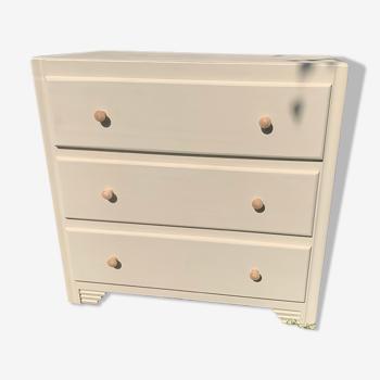 Commode vintage art deco 3 tiroirs