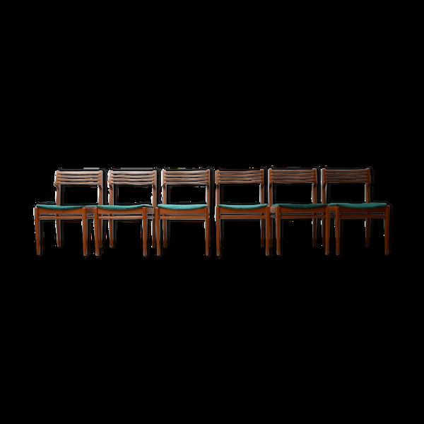 Lot de 6 chaises du milieu du siècle