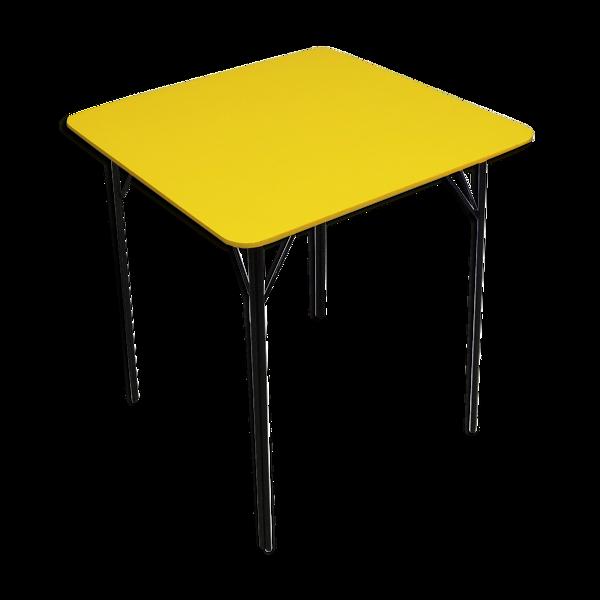 Table à manger jaune du milieu du siècle