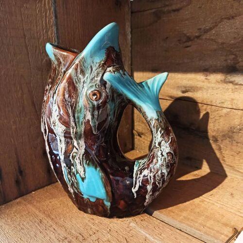 Pichet poisson céramique