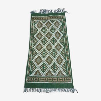 Green kilim rug 93x189cm