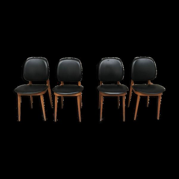 Selency Série de 4 chaises modèle Pégase édité par Baumann - années 60