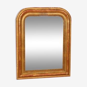 Miroir louis philippe doré à la feuille d'or