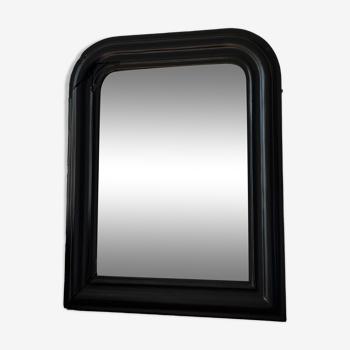 Miroir Louis Philippe noir mat 47x58 cm