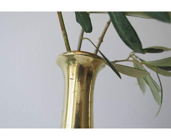 Lot de deux vases soliflores laiton