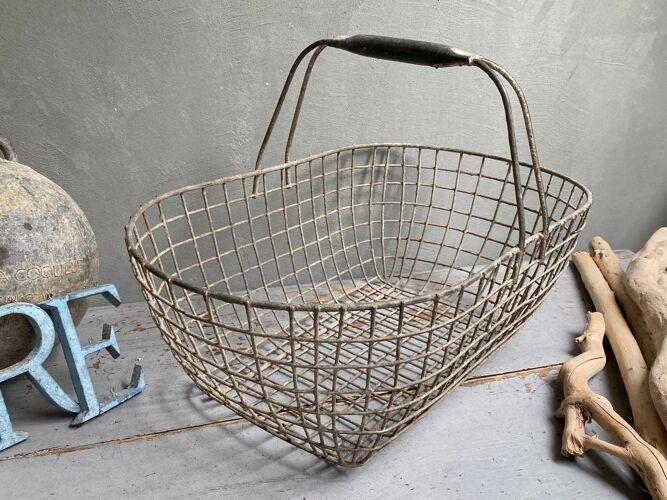 Panier métal de pêche à pied