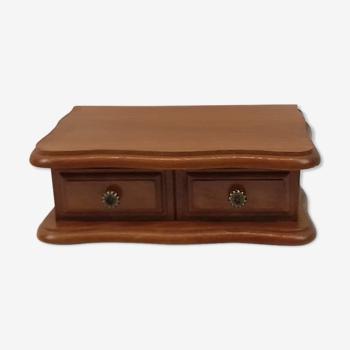 Boîte à bijoux en bois style rustique