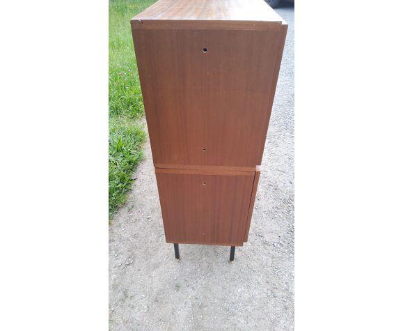 Secrétaire meuble de rangement des années 60 en acajou