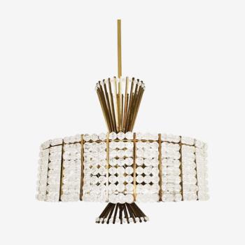 Breathtakingly beautiful Mid Century Modern chandelier by Emil Stejnar for Rupert Nikoll