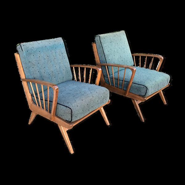 Selency Paire de fauteuils cocktails restaurés