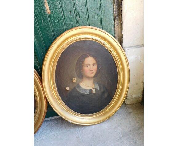 Paire de portraits Louis Philippe 1862