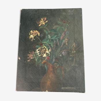 Peinture bouquet de chèvrefeuille