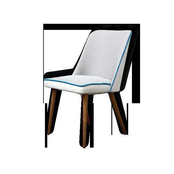 Belle chaise vintage des années 50/60 entièrement rénovée (bois, tissu, garniture).