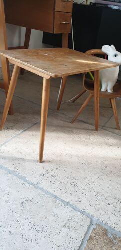 Table vintage enfant pieds compas