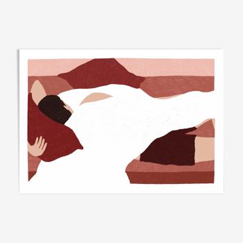 """Illustration """"L'amoureux"""" - A4"""