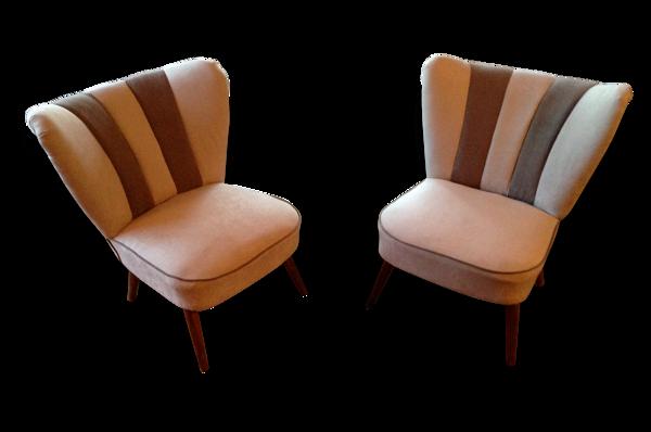Selency Paire de fauteuils cocktail