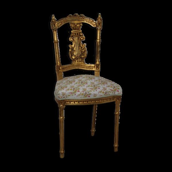 Chaise bois doré