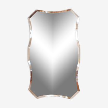 Miroir art déco forme libre 36x61cm