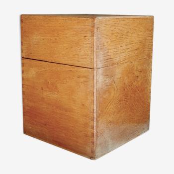Boîte en bois de hêtre type fiches recettes