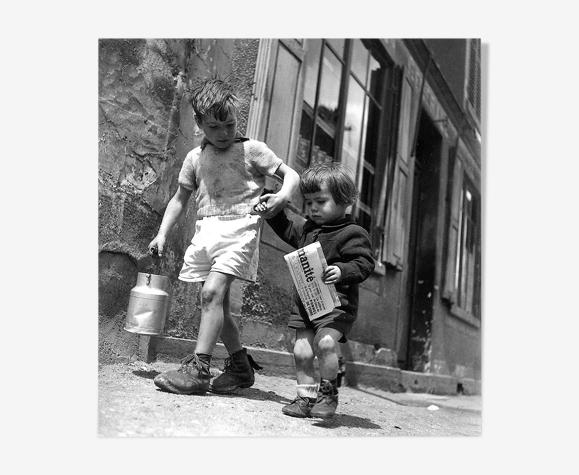 "Photographie, ""Rue marcelin berthelot, Choisy-le-roi"", 1946, 15 x 15 cm"