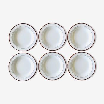 Ensemble de 6 assiettes creuses italiennes D21,5cm