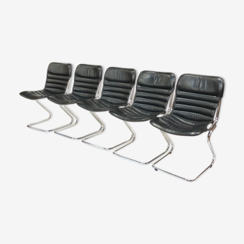 Lot de 5 chaises vintage design italien