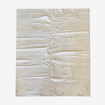 Tapis de laine crème unie 221x317cm