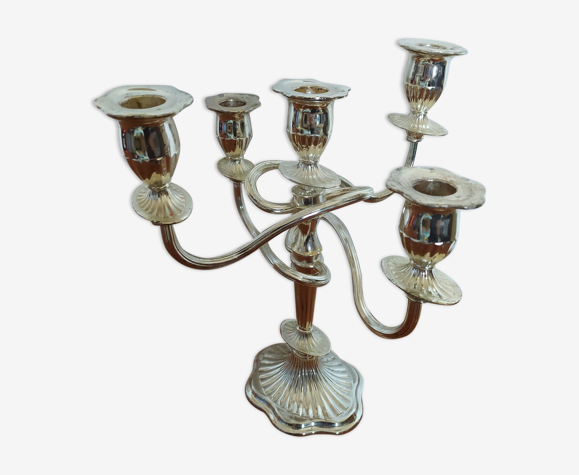 Chandelier metal chrome 5 branches