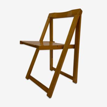 Chaise pliante en bois des années 60
