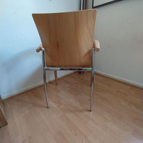 Chaise de bureau en bois clair