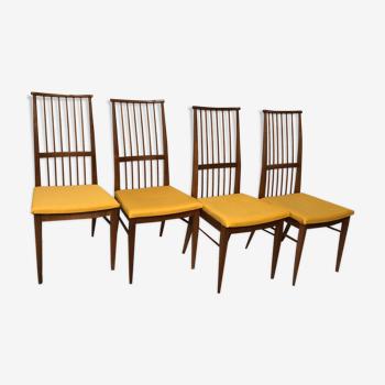 Chaises bois blond vintage années 60