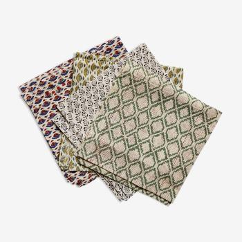 Lot de 4 serviettes dépareillées