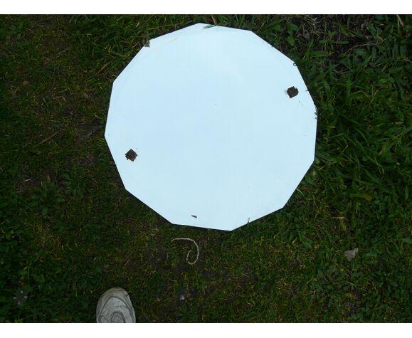 Miroir biseauté art déco 64X64cm