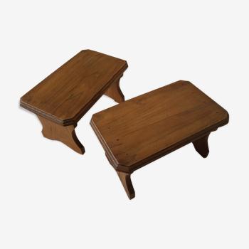 Duo tabourets en bois