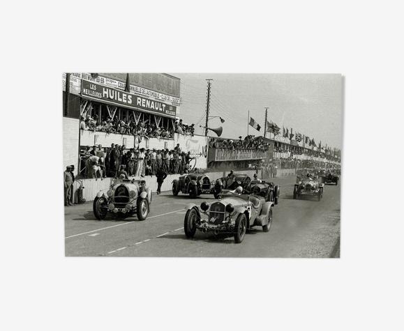 """Photography, """"Les 24 h du Mans"""", 1934 / Large format: 20 x 30 cm"""