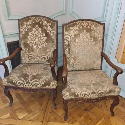 Paire de fauteuils style regence , milieu xixème