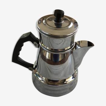 Old chrome metal coffee maker N°2