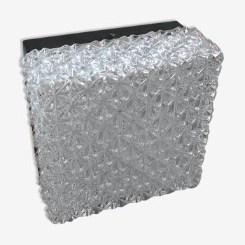Plafonnier carré en verre par Erco 1970