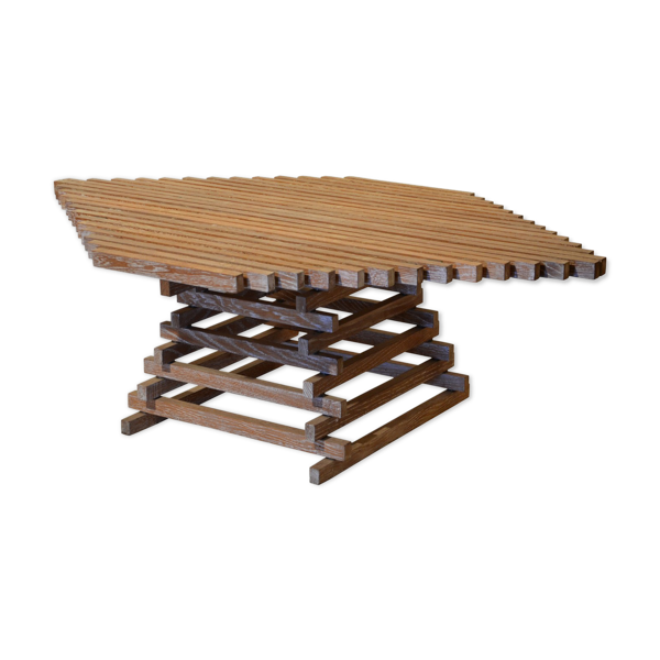 Selency Table ajourée en bois 1980