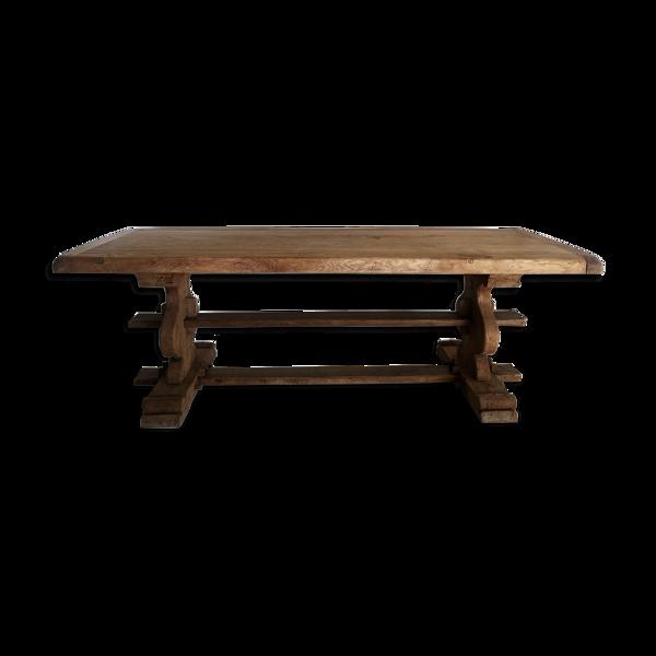 Table de monastère en chêne brut 18ème