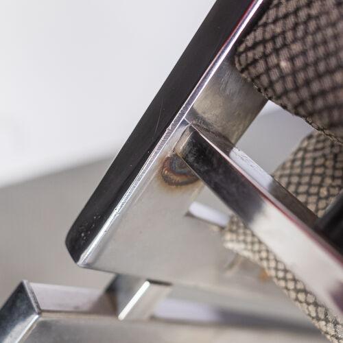 Paire de chaises en acier de Rega certifiées des années 70 vintage modern