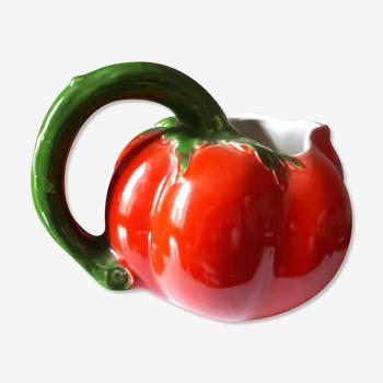 Pichet tomate barbotine ancien