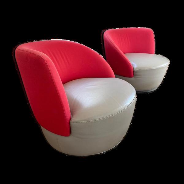 Set de 2 fauteuils cuir vous et moi